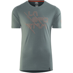 La Sportiva Sliced Logo Shortsleeve Shirt Men teal